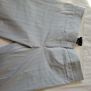 BCBG pinstriped slacks, size 4